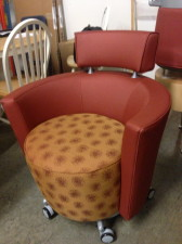 Upholstered Rolling barrel seating