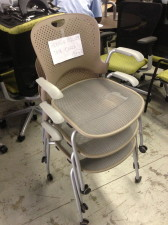 Herman Miller Mirra side chairs