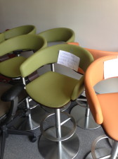 Haworth swivel bar stools