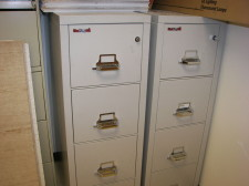 (2) Fire king 4 Drawer vertical File cabinets Very good condition Union City, CA